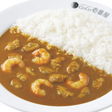 Shrimp and Asari clam curry/エビあさりカレー弁当