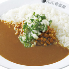 Nebaneba‐zanmai curry 【okra and yam,natto(fermented soy beans)】/ネバネバ三昧カレー弁当