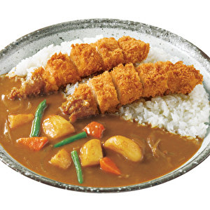 Hand‐made chicken tender cutlet curry with vegetables/手仕込ささみカツカレー弁当+やさい