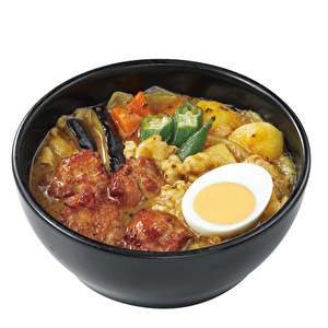 Roast chicken soup curry with thin-sliced pork /ローストチキンスープカレー弁当+豚しゃぶ