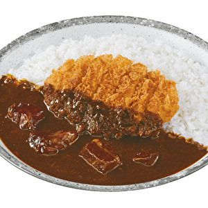 GYU (beef) curry with Hand-made Tonkatsu/牛カレー弁当+手仕込とんかつ
