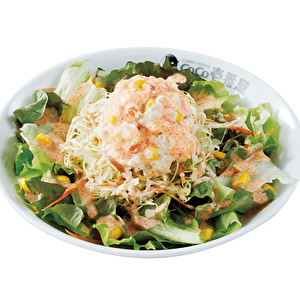 Coleslaw salad with seasoned cod roe/明太コールスローサラダ