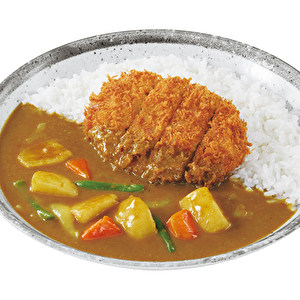 Hand-made Kagoshima Kuro-buta minced meat and cabbage cutlet curry with vegetables/鹿児島黒豚キャベツメンチカツ+やさい