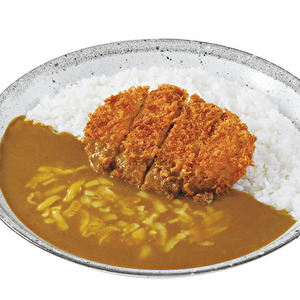Hand-made Kagoshima Kuro-buta minced meat and cabbage cutlet curry with cheese/鹿児島黒豚キャベツメンチカツ+チーズ