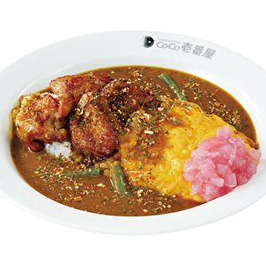 Chicken spicy curry with scrambled egg/チキンスパイスカレー弁当+スクランブルエッグ