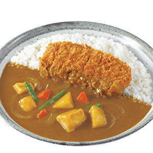 Good Luck Hand-made Pork fillet Hirekatsu curry with vegetables/手仕込豚ヒレ勝つカレー弁当+やさい