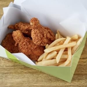 Fried Chiken with French Fries フライドチキン